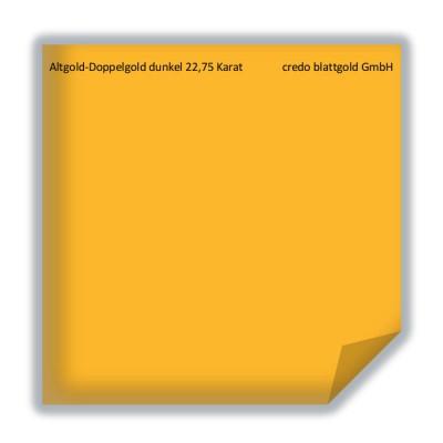 Blattgold Altgold-Doppelgold dunkel 22,75 Karat lose