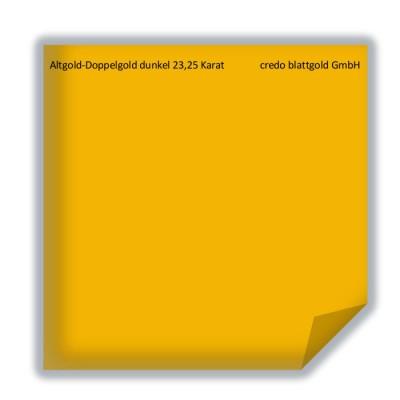Blattgold Altgold-Doppelgold dunkel 23,25 Karat lose