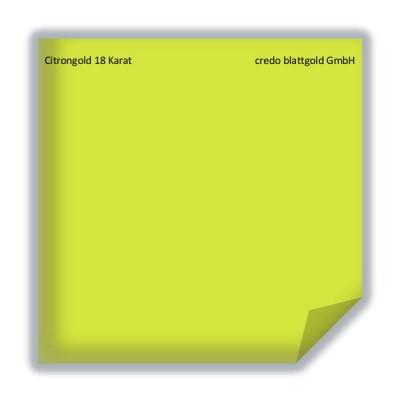 Blattgold Citrongold 18 Karat lose