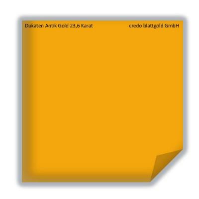 Blattgold Dukaten Antik Gold 23,6 Karat lose