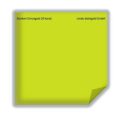 Blattgold Dunkel-Citrongold 20 Karat lose