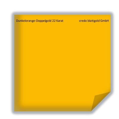 Blattgold Dunkelorangegold 22 Karat lose