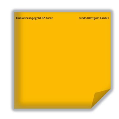 Blattgold Dunkelorangegold 22 Karat transfer