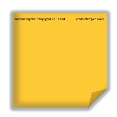 Blattgold Katharinengold Orangegold 22,5 Karat lose