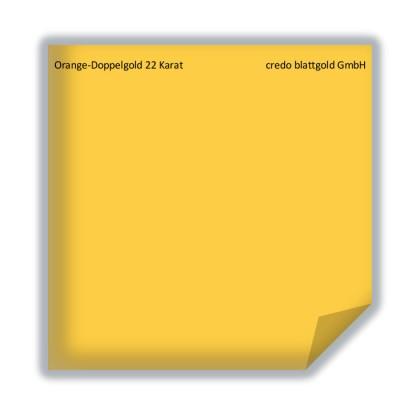 Blattgold Orange-Doppelgold  22 Karat lose