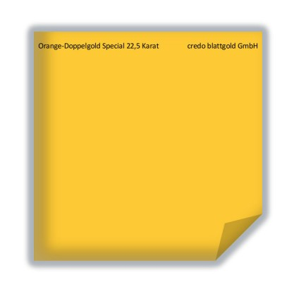 Blattgold Orange-Doppelgold Special 22,5 Karat lose