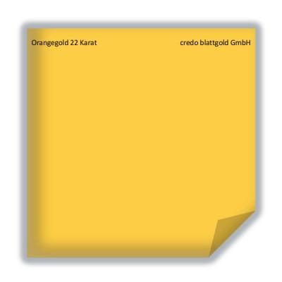 Blattgold Orangegold 22 Karat lose