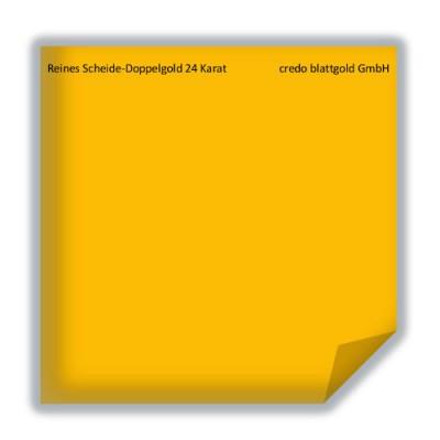 Blattgold Reines Scheide-Doppelgold extra dick 24 Karat transfer