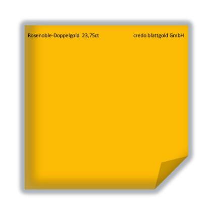 Blattgold Rosenobel-Doppelgold extra 23,75 Karat Blattgold lose - 10 Blatt