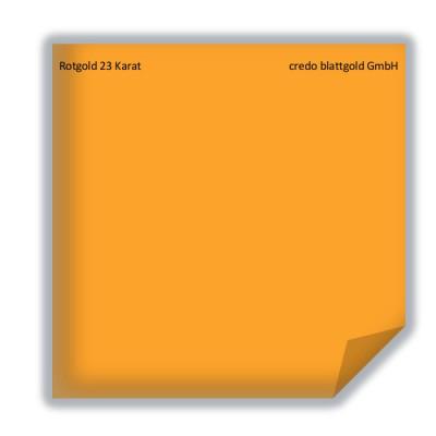 Blattgold Rotgold 23 Karat lose - 10 Blatt