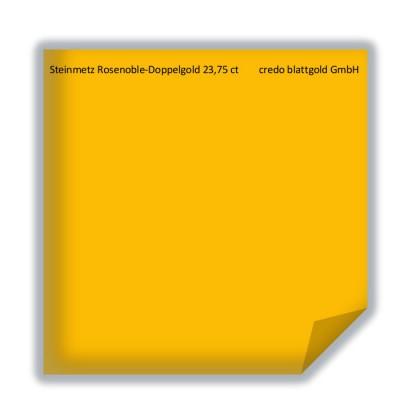 Blattgold Steinmetz Rosenoble Doppelgold 23,75 Karat transfer