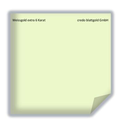 Blattgold Weissgold extra  6 Karat lose