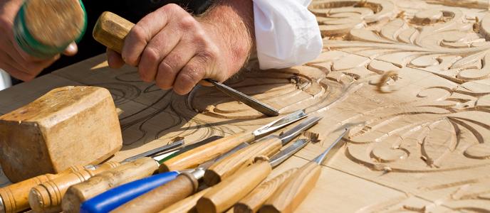 Bildhauer & Schnitzwerkzeuge